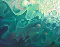 Green energy (digital painting)