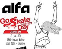 go skate boarding day flyer