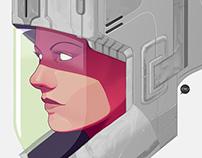 Sci-fi Helmet Astrogirl