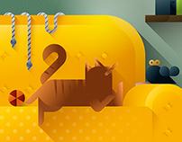 Cats & Sofas art prints