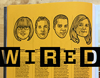 Animated Lineart Portraits for WIRED US
