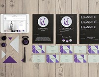 Visual identity for LK makeup