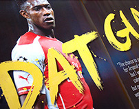Dat Guy: Arsenal FC, Danny Welbeck painted type design