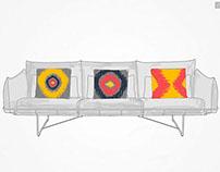 Herman Miller Sofa & iKat pillows