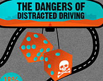 Graphic Featuring The Dangers of Distracted Driving