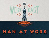 MAN AT WORK | illustration Fisherman & Miner