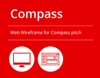 Web Wireframe for Compass pitch