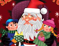 Christmas Flyer with Santa