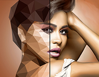 Colorizing, Retouching & Low Poly Portrait