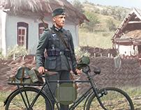 German soldier-bicyclist, 1939-1942
