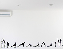 Wall Painting for A Yoga Studio