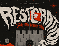 Restorations LP3 release show poster
