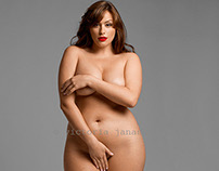 nude editorial with plus size model Jennifer Maitland