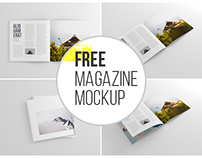 Square Magazine Mockup