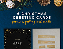 Golden Foil Christmas Greetings #1