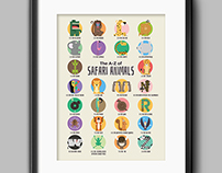 Little Hand Prints - Limited Edition, Themed A-Z Prints