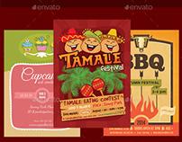 Food Festivals Flyer Bundle