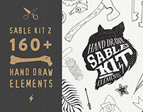 Sable Kit 2 - hand drawn collection