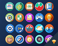 Flat icon design with sketch for free download.