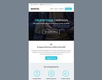 Mantos, Responsive Email with Template Editor