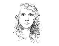 Calligraphy. Portraits