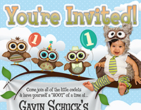 Gavin's 1st Birthday Party - Owl Themed