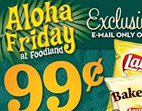 Aloha Friday at Foodland Ad Template