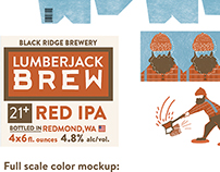 Lumberjack Brew Beer Package Design