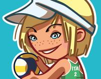 Valeria Rosso character design