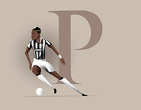 Latest football player illustrations