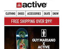 Active Ride Shop Email Samples
