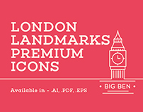 London landmark premium icons / illustrations