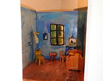 Vincent Van Gogh  wooden room by SG