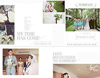 Wedding Photobook Design of F&S, photo by Little Jump
