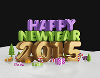 Happy New Year 2015 Gold