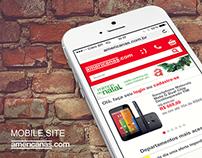 Mobile Site americanas.com