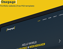 One Page Template PSD template
