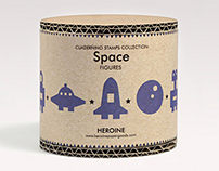 Space stamps set