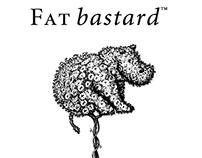 Fat Bastard Wine Label Illustrations by Steven Noble