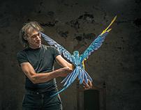 Pietro, the bird trainer.