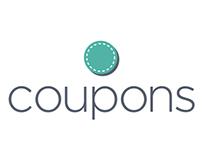 Online Coupon Service Logo Concept