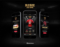 WEB APP //  BUDWEISER RISE AS ONE THE GAME