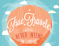 Traveler illustration poster