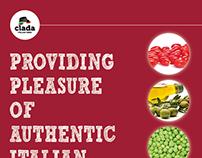 Clada, Catalogo 2015 prodotti alimentari