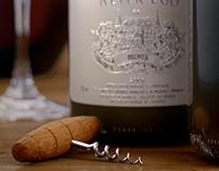 Wine bottle CGI Render