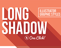 Long Shadow Graphic Styles for Illustrator
