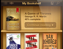 Ebooks Reader app UI