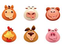 animal (vector) icons…