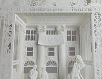White paper art for Barnard College