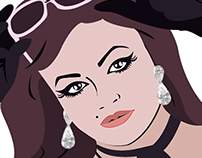 Cartoon Portrait of Elika